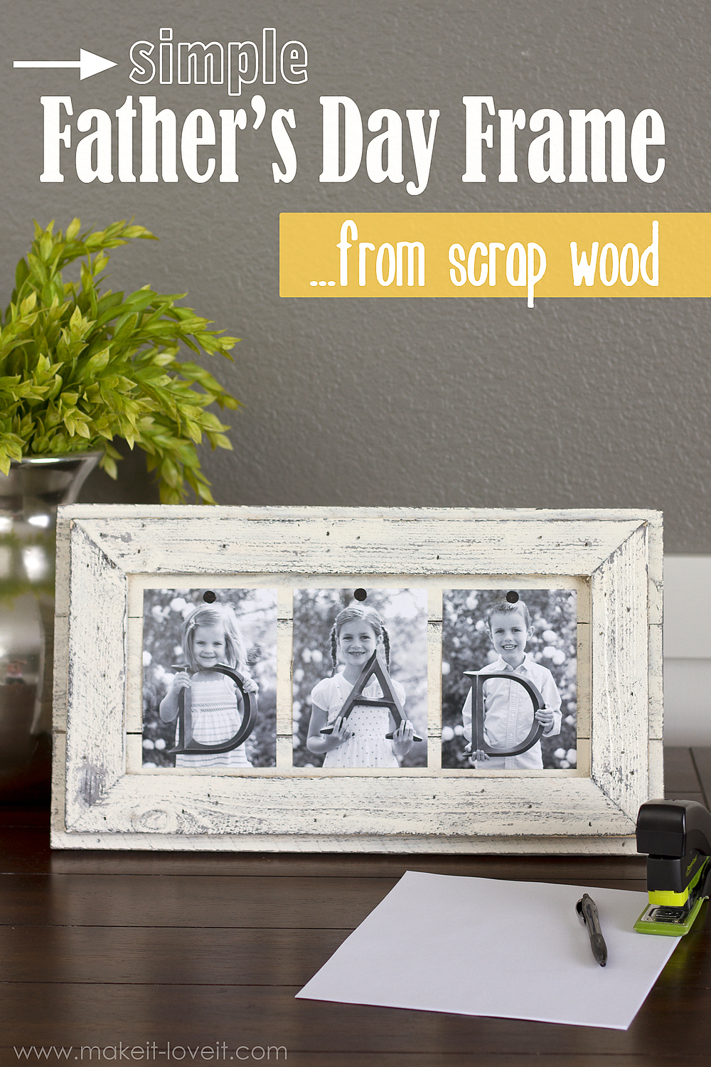 Simple Father's Day Picture Frame…from Scrap Wood