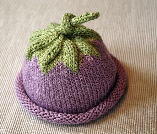 berry knit hat