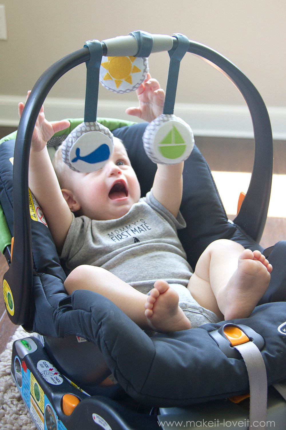 DIY Car Seat Toys…for baby!