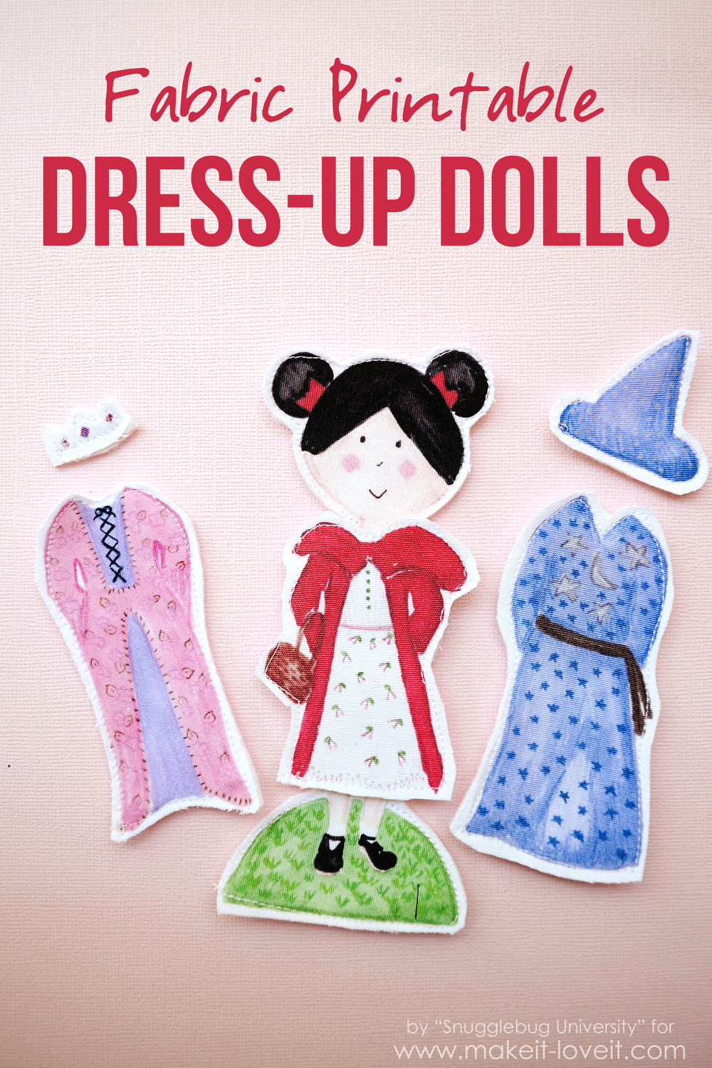 Fabric Printable DRESS-UP DOLLS....yes, using your printer at home! | via Make It and Love It