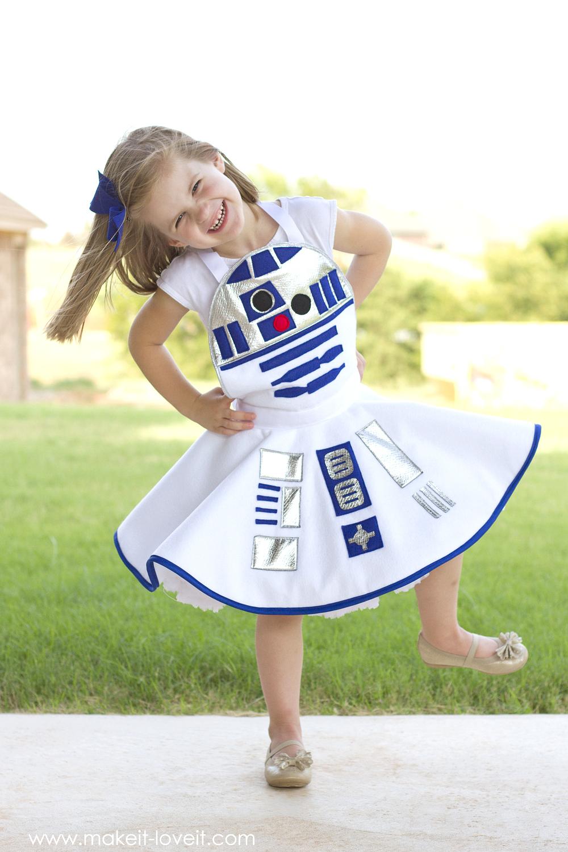 Star Wars R2D2 Dress Costume for girls 17