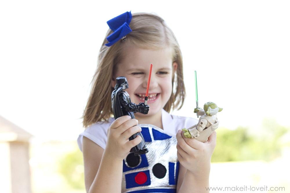 DIY Star Wars R2-D2 Dress Costume FOR GIRLS   via Make It and Love It