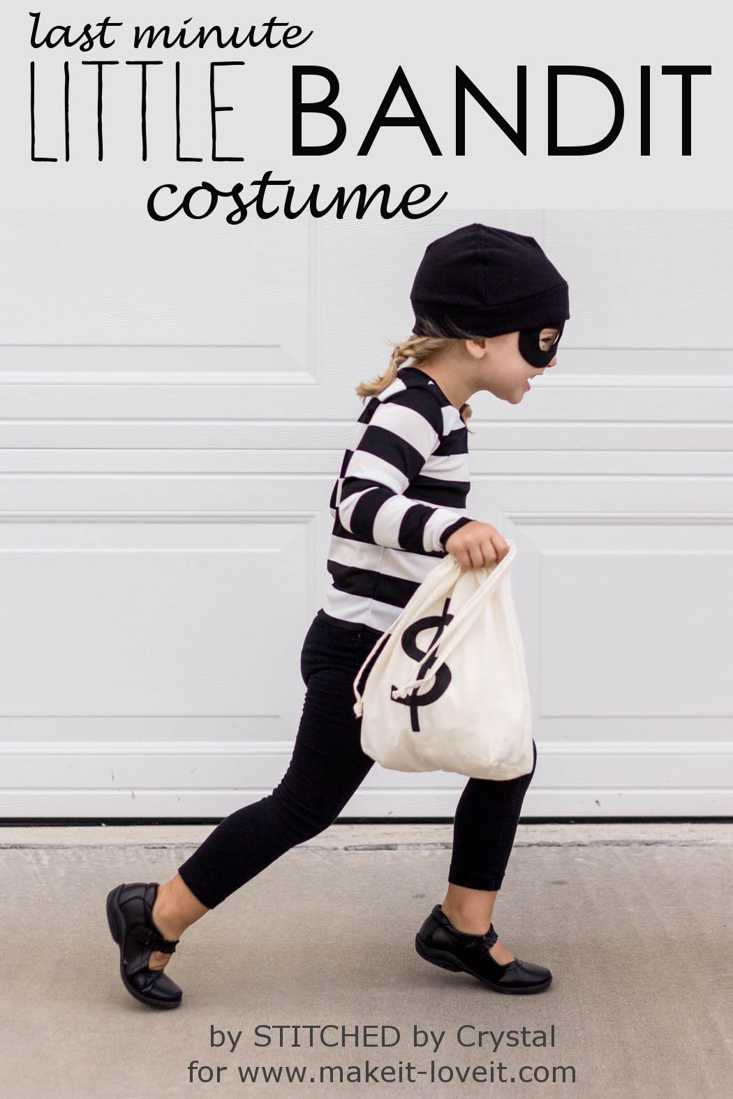 "Last Minute ""Little Bandit"" Costume  via Make It and Love It"