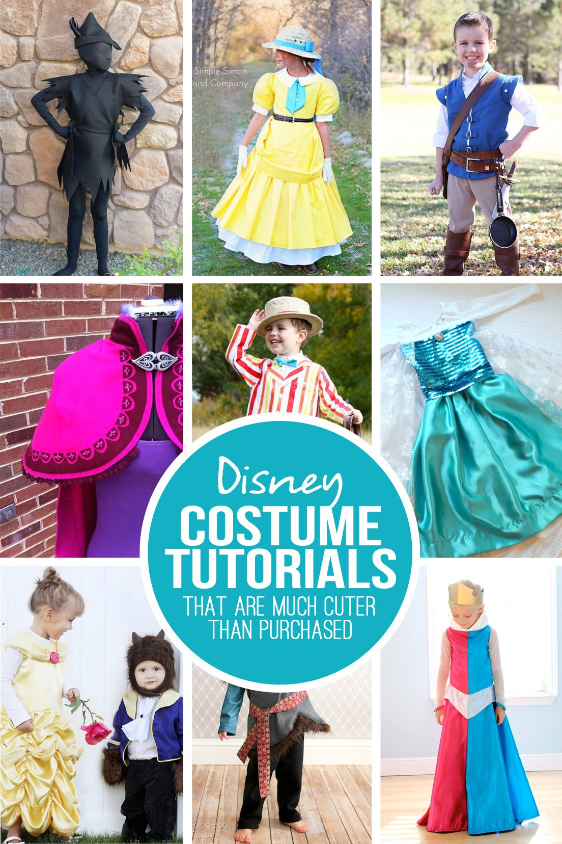 28 DIY Disney Costume Tutorials...that are MUCH cuter than store bought!   via Make It and Love It