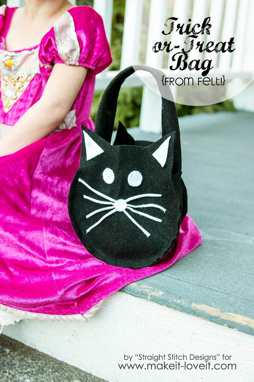DIY Trick-or-Treat Bag {from felt}  via Make It and Love It