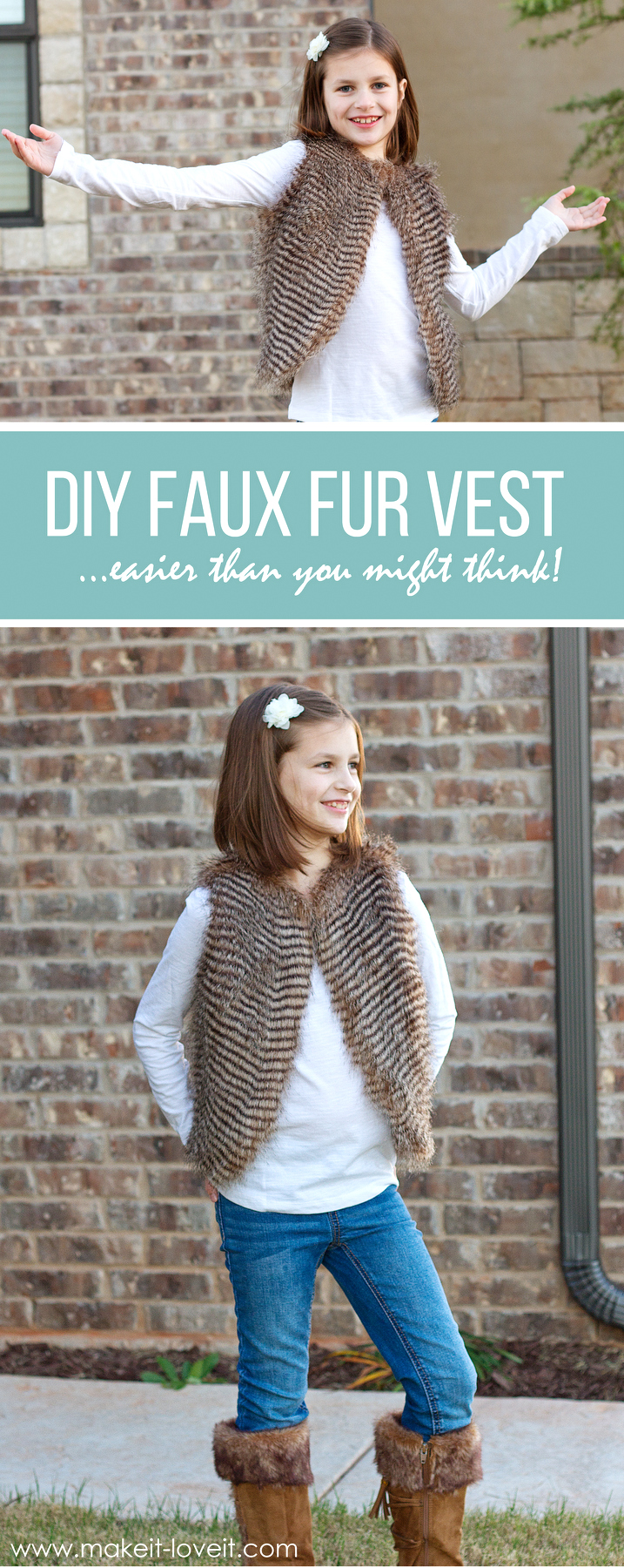 Make a FAUX FUR VEST...easier than you might think!   via Make It and Love It