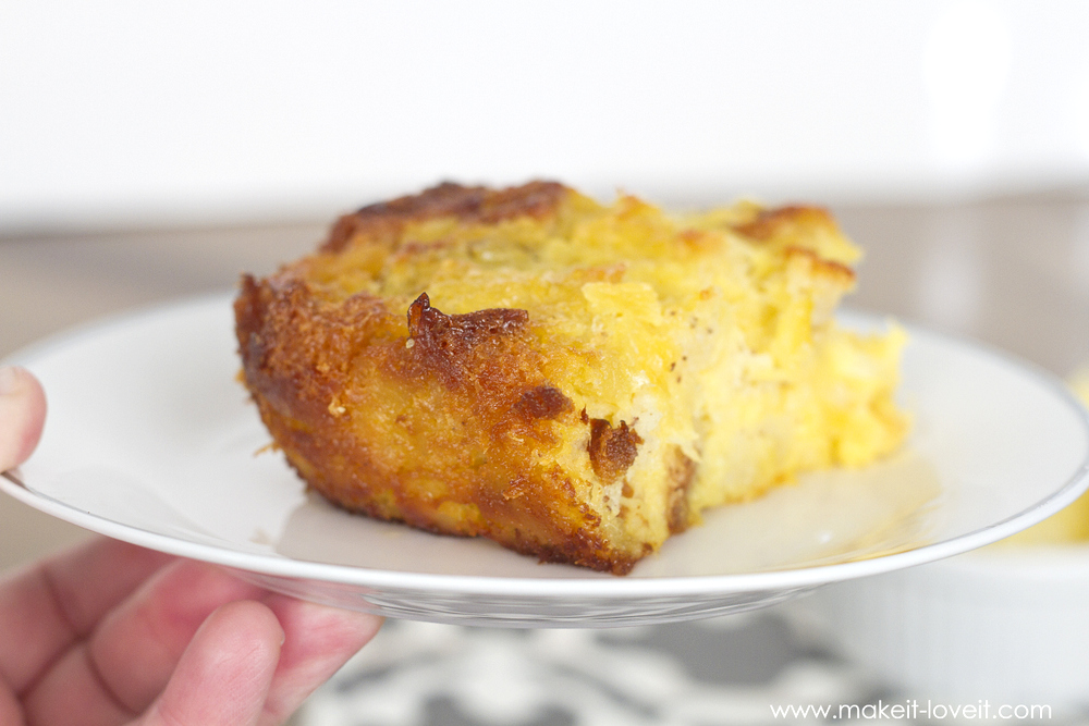 Sweet Pineapple Strata recipe...so simple and yummy! (Gluten Free version included) | via Make It and Love It