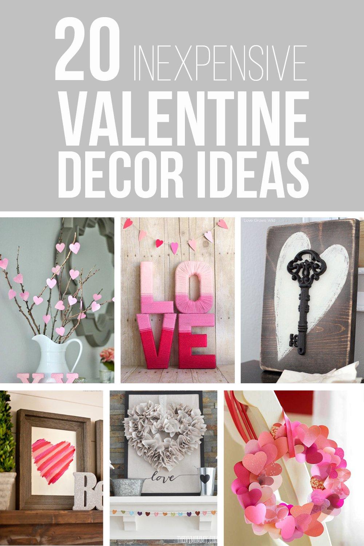20 Inexpensive Valentine Decor Ideas | via Make It and Love It