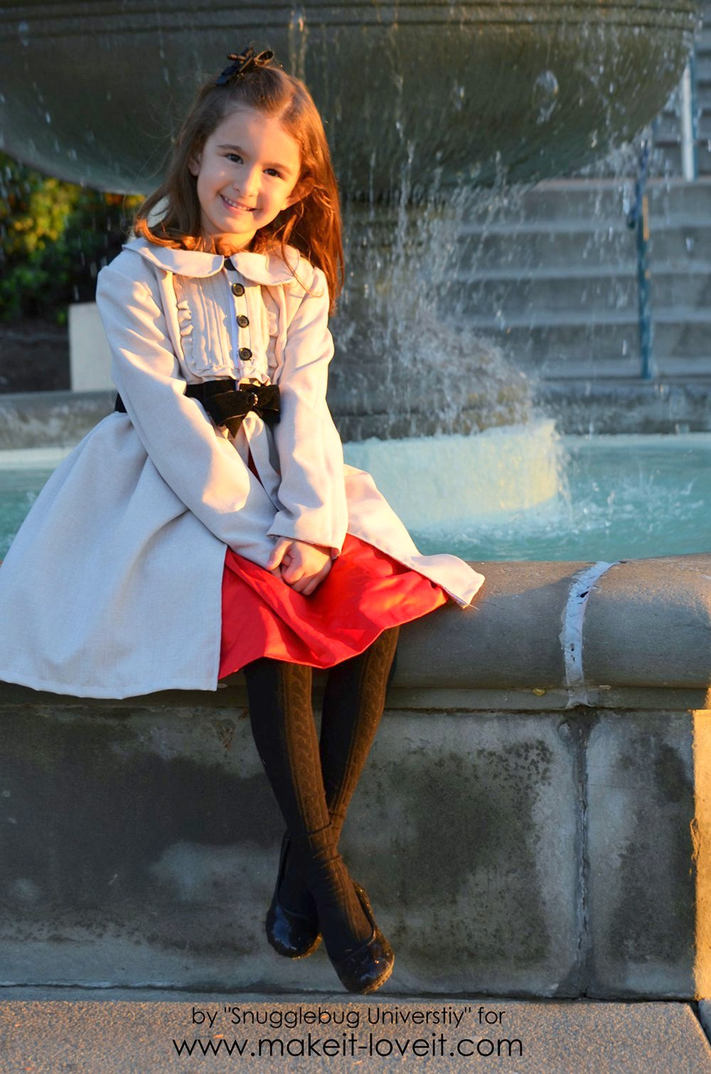 Little Girl's Dress Coat Tutorial   via Make It and Love It