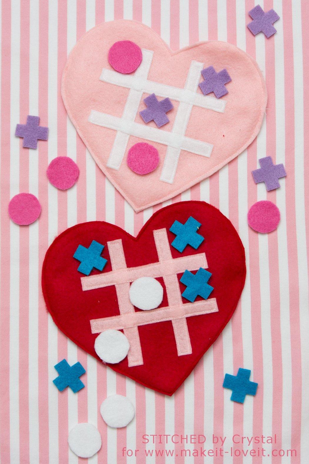 DIY Valentine Tic-Tac-Toe Game | via Make It and Love It