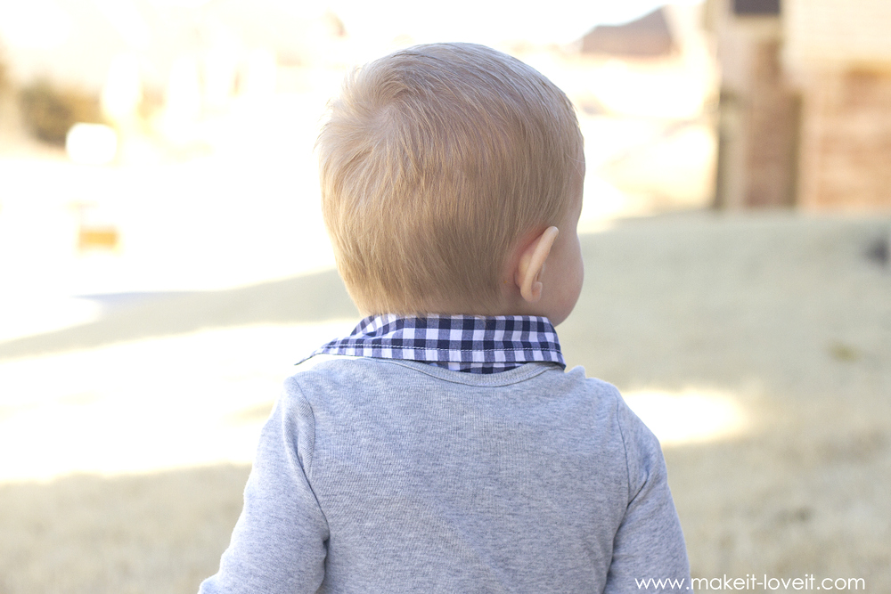 Make a 2-in-1 Preppy Shirt (from a onesie & outgrown button-up)   via Make It and Love It