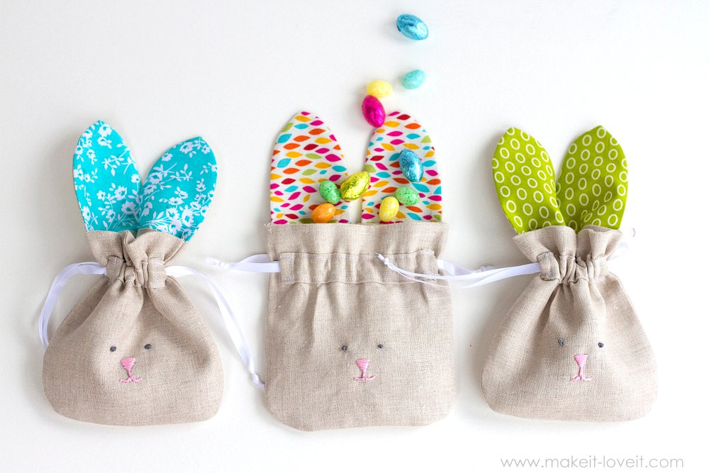 Drawstring Bunny Bags...fun for Easter, or ALL year long!   Make It and Love It