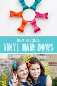DIY Vinyl Hair Bows...for BACK-TO-SCHOOL!!   via makeit-loveit.com