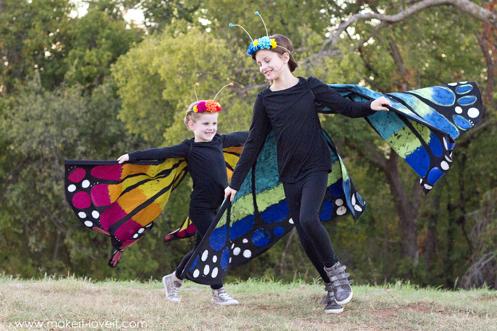 How to make a Large Wing BUTTERFLY Costume | via makeit-loveit.com