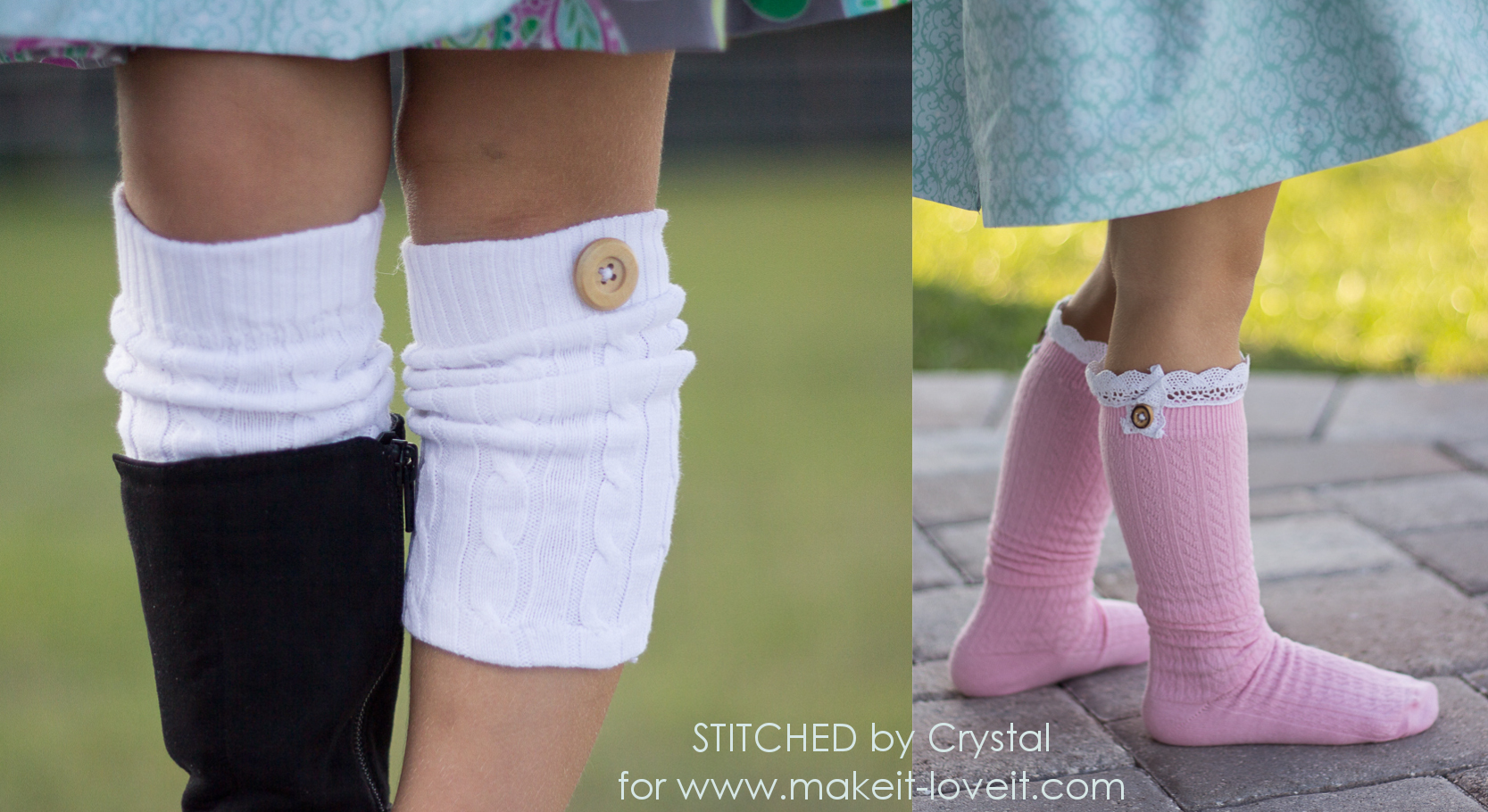 DIY Boot Socks...2 easy methods!   via makeit-loveit.com