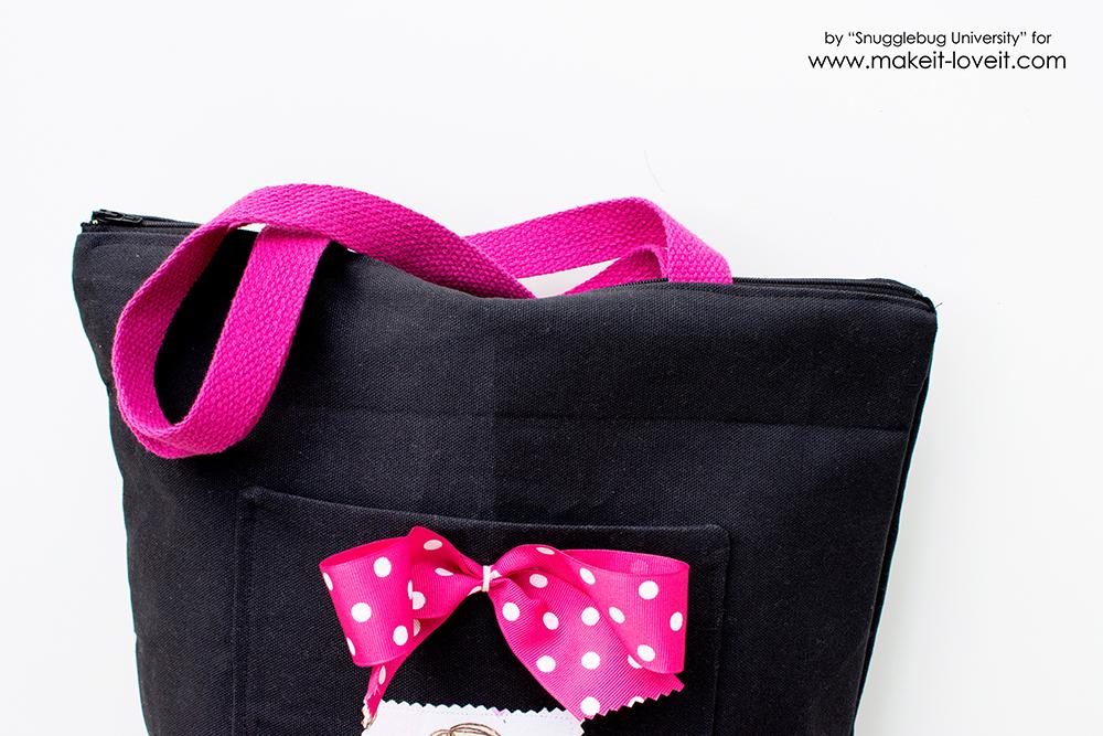 Zippered Tote Bag Tutorial | via makeit-loveit.com